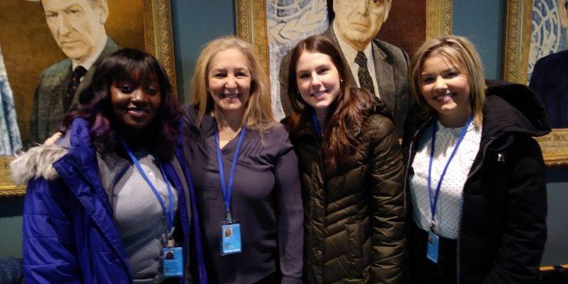In UN lobby