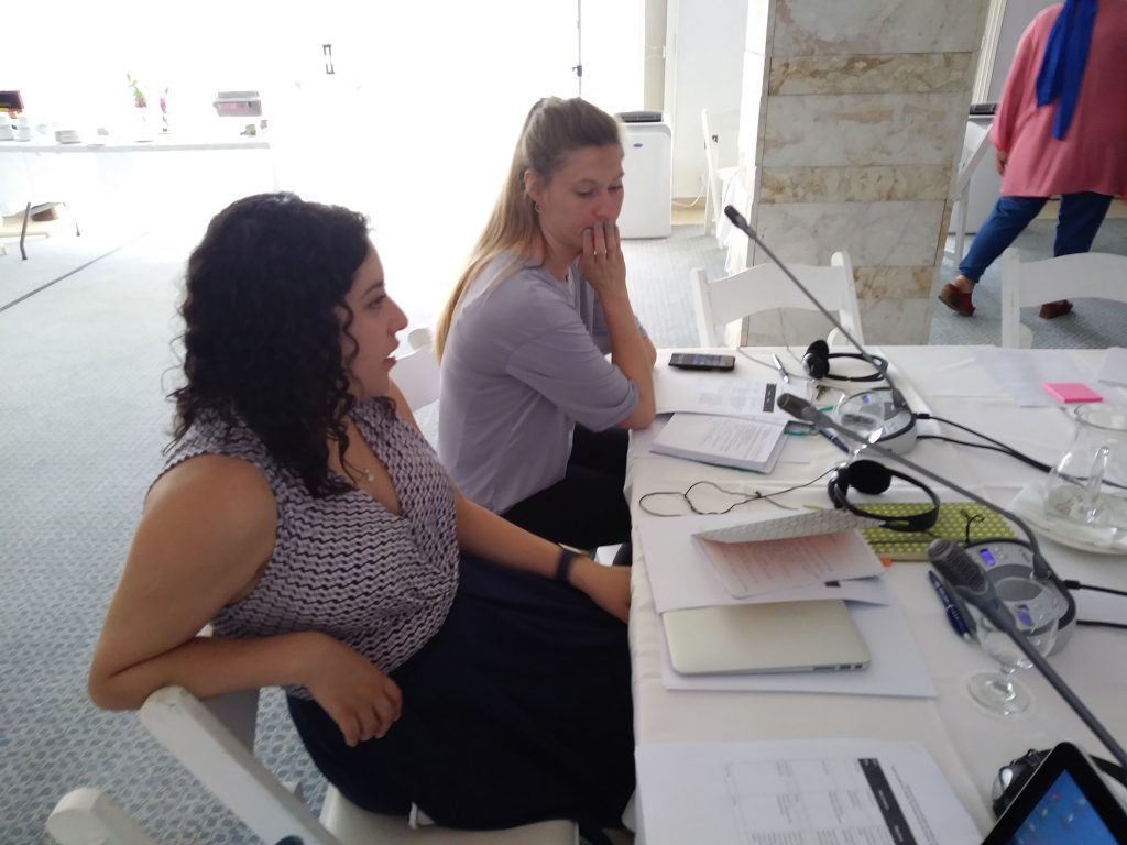 Alex and Monica from IREX at Cyprus workshop