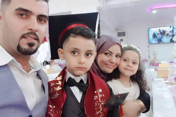 Rana with her current family